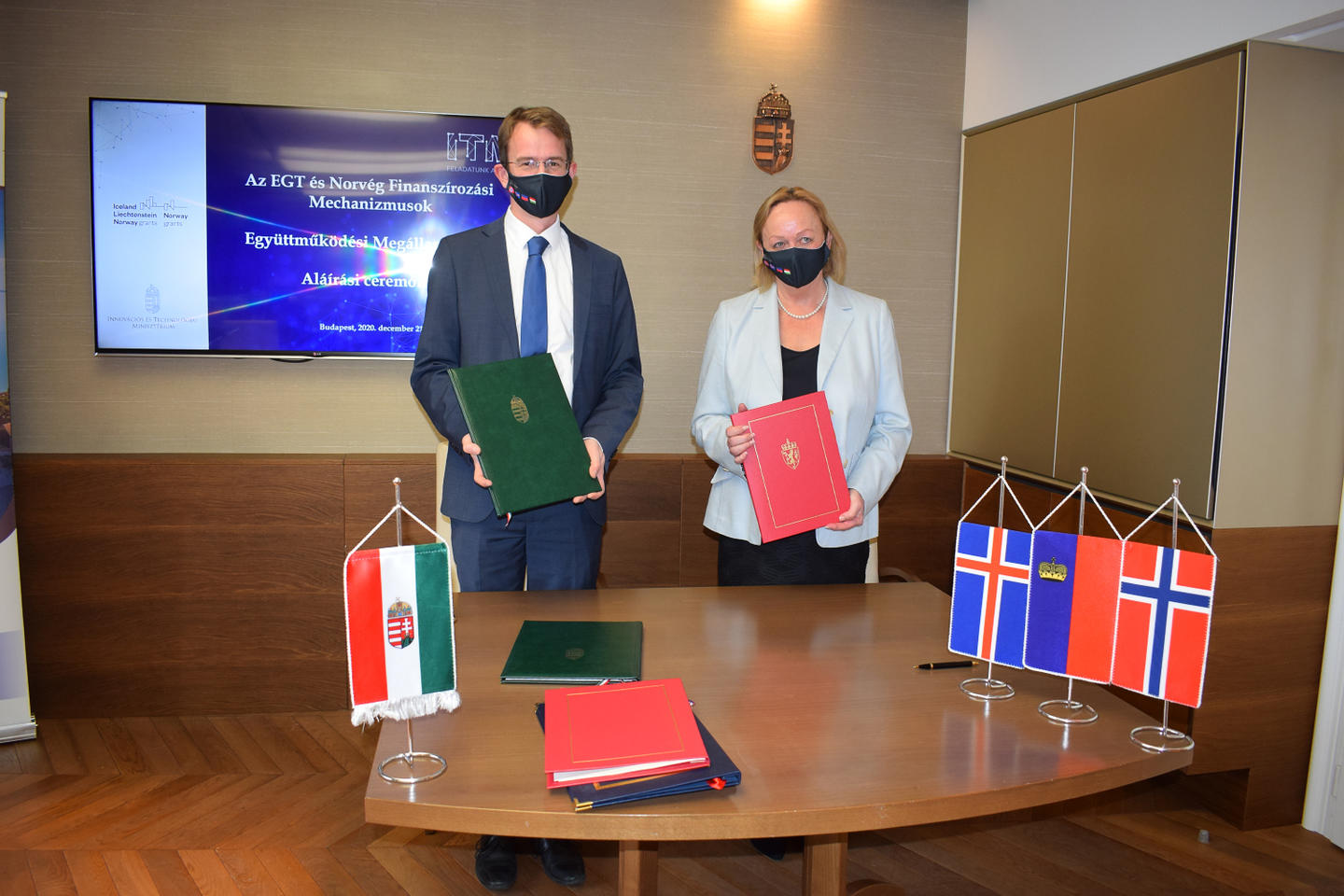 The EEA and Norway Grants agreements with Hungary signed in Budapest